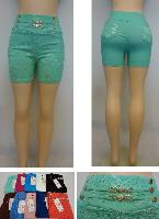 Ladies Fashion Stretch Shorts [Lace Design]